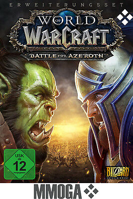 World of Warcraft Battle for Azeroth Spiel Code - WoW Add-On Key PC MAC - DE/EU