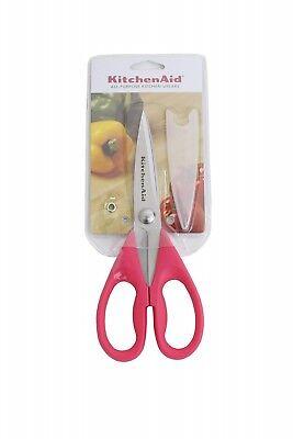 New KitchenAid All Purpose Kitchen Shears Scissors Hot Dark Pink Fuchsia