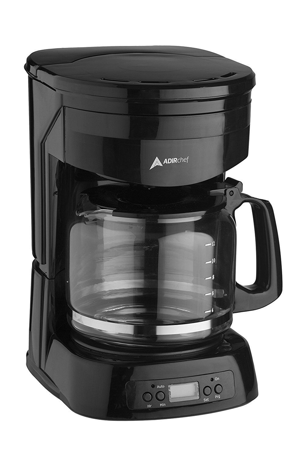 AdirChef 12 Cup Coffee Maker Glass Carafe Easy Fill Easy Clean Coffee Maker
