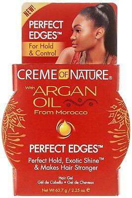 NEW CREAM OF NATURE ARGAN OIL PERFECT EDGE CONTROL HAIR GEL
