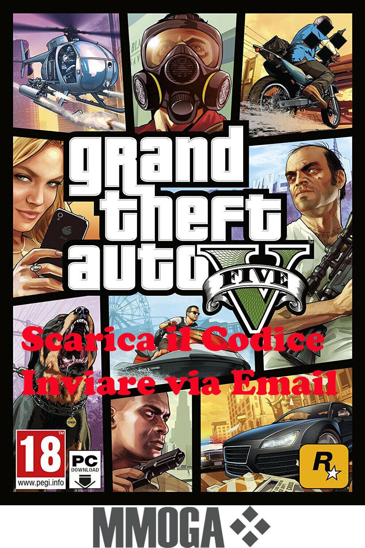 GTA5 - Grand Theft Auto V - PC Rockstar Games codice digitale online 18+ - IT