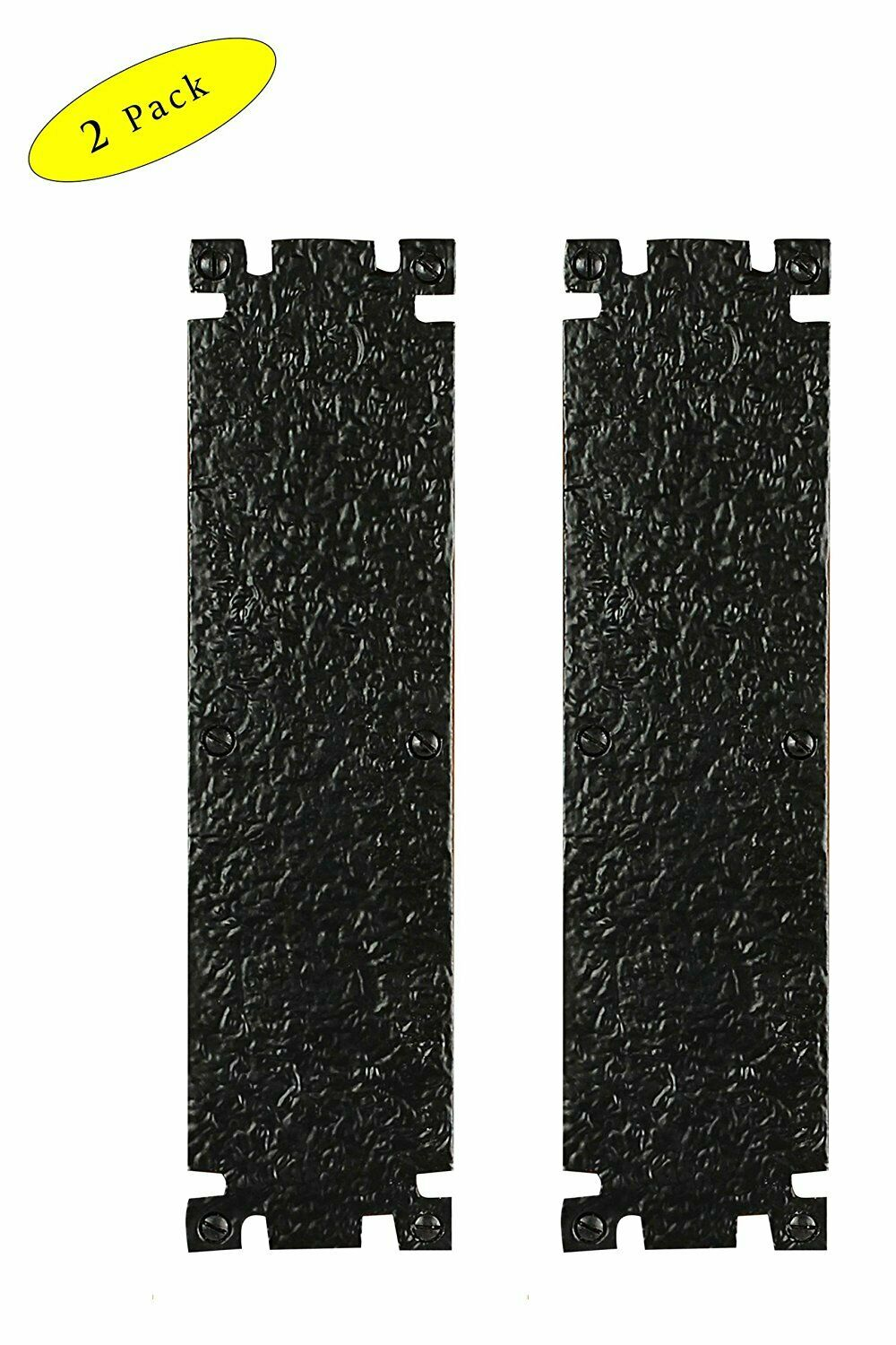 Handmade Victorian Style Gate/Door Push Plate, Black Powder Coated, 2-Pack - $22.00