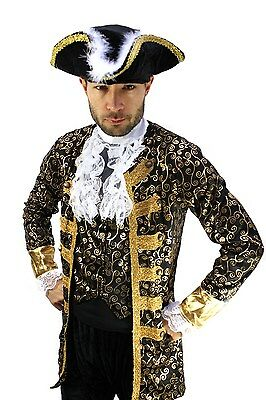 Costume Aristocrat Pirate Nobleman Captain Baroque Caribbean Medieval Men's Size