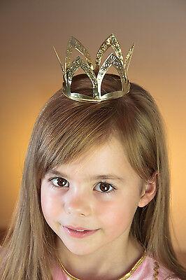 Krone gold Prägung Krönchen Märchen Krippenspiel Metall Prinzessin 129002013
