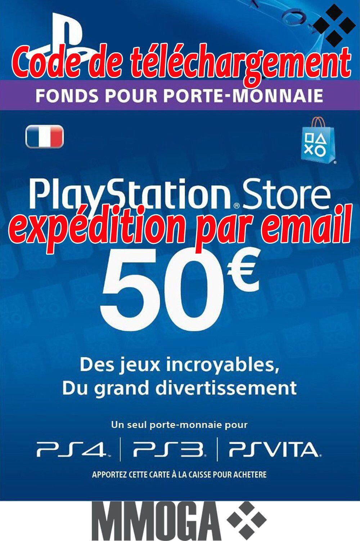 €50 eur carte playstation network - 50 euro psn code jeu - compte français - fr