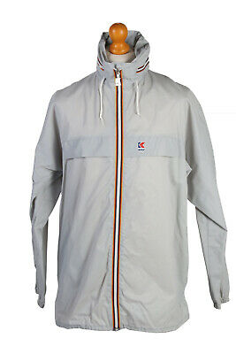 "K-Way Waterproof Raincoat Festival Outdoor Jacket Unisex Chest 46"" Grey - SW2559"