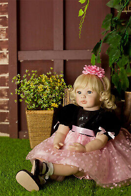 "Reborn Dolls Toddler 23"" Big Baby Soft Silicone Real Life Cute Girl Xmas Gifts"
