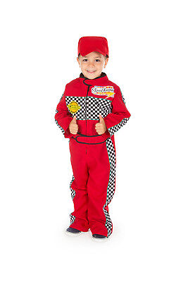 Children's Kids Boys Red Racing Car F1 Driver Overalls Suit Fancy Dress Costume - Kids Car Costume
