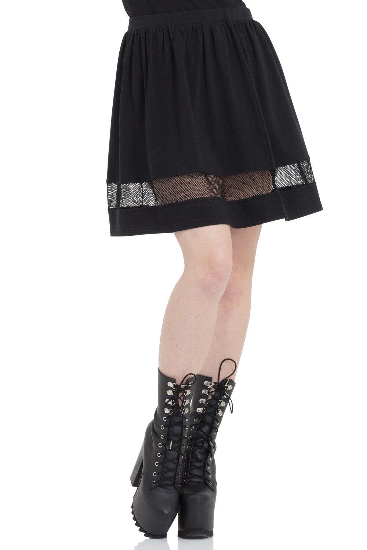 JAWBREAKER GOTHIC VAMPIRE WITCH CULT COBWEB BLACK NASTY NET SKIRT SKA3307 Clothing, Shoes & Accessories