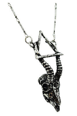 Restyle Goth Nature Gazelle Skull Arsenic Alchemy Symbol Necklace