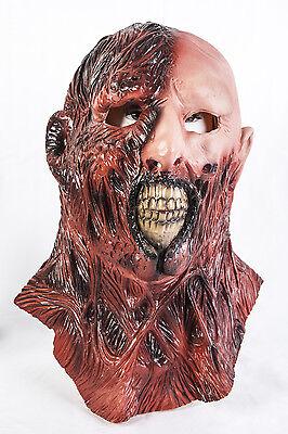 Darkman Mask (Darkman Mask Burnt Man Latex Fancy Dress Halloween Horror Zombie Bloody)