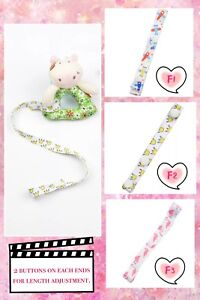 Cute Cloth Strips with Buttons for Dummy / Pacifier / Soother