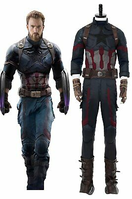 Costume Captain America (Avengers3: Infinity War Captain America Costume Shield Cosplay Men Steven)