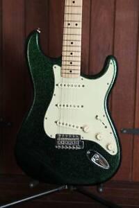 Fender FSR Stratocaster Flip-Flop Green/Blue Metallic Limited Edition Mount Lawley Stirling Area Preview