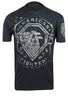 American Fighter Merrimack Artisan T Shirt  Black Gray