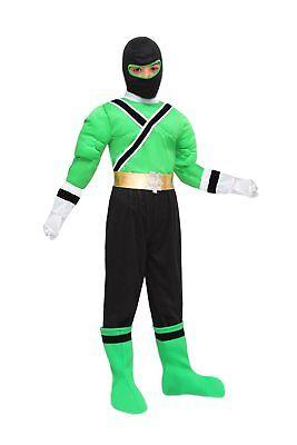 POWER RANGER costume CARNEVALE POWER SAMURAI VERDE bimbo tg. 6/7 a. PEGASUS SRL