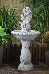 Solar pump Garden Outdoor Fairy Flower Water Fountain Feature Athelstone Campbelltown Area Preview