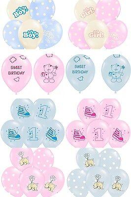 Luftballon Baby Partyballon Ballon Geburt Taufe Baby Mädchen Junge rosa hellblau ()