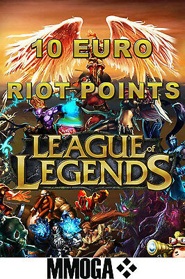 10 EURO LOL RP Key Code - 10 EUR League of Legends Riot Points Card PC - EU