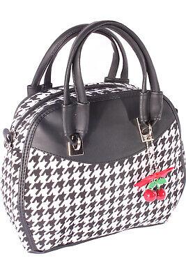 6bfc90dc1a52c Rockabilly Pepita Bow 50er Jahre Hahnentritt Handtasche Tasche