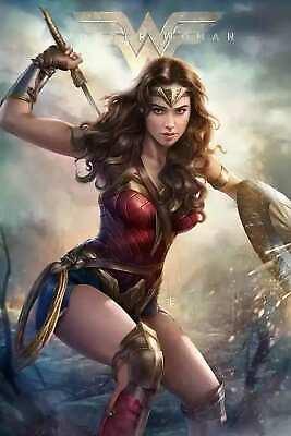 Superhero Posters (Hot Custom Wonder Woman DC Comics Sexy Girl Superhero Art Poster Decor )