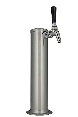 Kegco Dt145-1b-630 14 Brushed Stainless 1-tap Draft Tower - Perlick Faucet