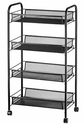 Halter Four Tier Rolling Mesh Storage Cart With Baskets 33 X 17.25