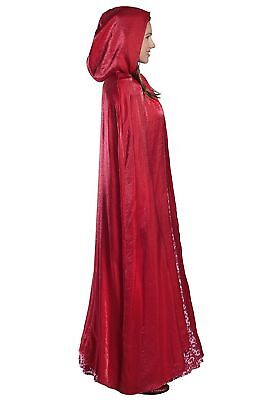 Red Riding Hood Capes (Little Red Riding Hood Women's Deluxe Costume - Dress & Cape Adult - Choose)