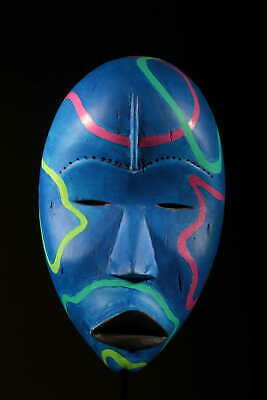 Art Contemporary African Mask Dan Blue