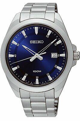 Seiko SUR207 Classic Blue Dial Stainless Steel Quartz Men's Watch SUR207P1
