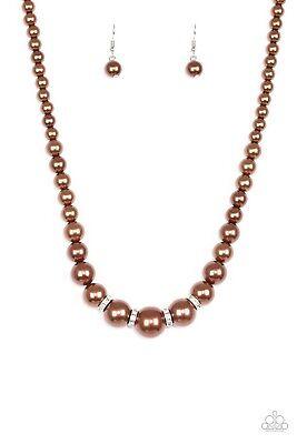 Paparazzi Jewelry Necklace Brown