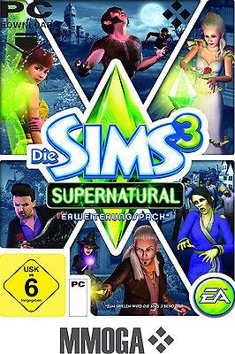 Die Sims 3 - Supernatural Addon Key / EA/ORIGIN DLC Download Code [PC][EU][NEU] (Sims 3 Downloads)
