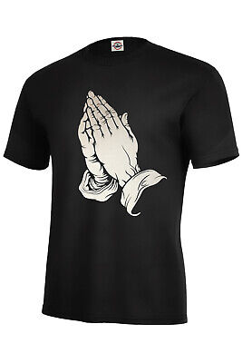 PRAYING HANDS T-SHIRT PRAYERS JESUS BLESSED SIZES S-5XL AND KIDS S6-8-XL18-20](Jesus And Children)