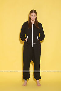 One Piece All in One Jumpsuit Onesies Women Men Cotton Mix Romper Hooded Pyjamas