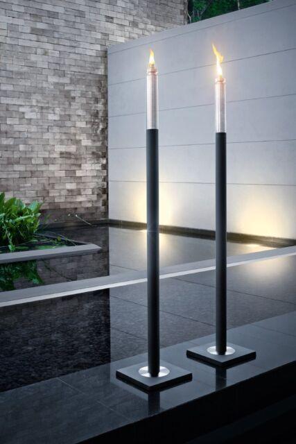 Blomus BARRA Garden Torch for outside, matt stainless steel/aluminium