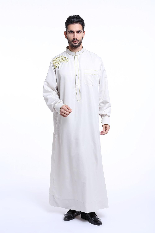 Men Saudi Jubba Thobe Thoub Abaya Robe Daffah Dishdasha ...