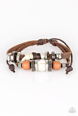 Paparazzi  ~Trail Trotter - Brown~ Urban Surfer Bracelet Shark Tooth RARE Summer - Shark Tooth Bracelet