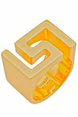 Versace Men's Iconic Logo Collar Ring in Gold Size 15 EUR 0579
