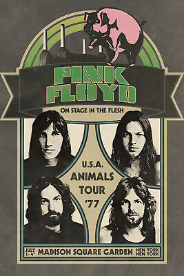 PINK FLOYD - ANIMALS TOUR POSTER 24x36 - MUSIC VINTAGE CLASSIC 241384