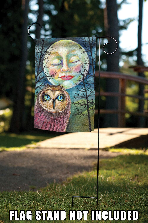 Toland Moonlit Owl 12.5 x 18 Inch Garden Flag