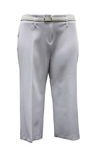 Ladies Plus Size White/Black/Blue Cropped Trousers #983 #984 #985