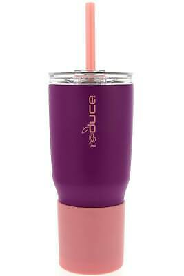 REDUCE COLD-1 Tumbler - 24oz Stainless Steel Insulated Tumbler With Straw & Lid - Stainless Steel Tumbler With Straw