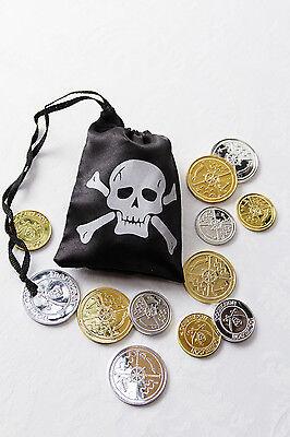 Piratengold mit Beutel Piraten-Schatz Spielgeld mit Beutel Geld 129418113