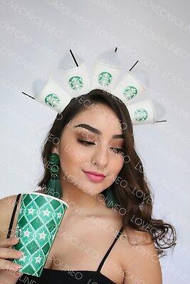 Starbucks Headpiece Coffee Birthday Headband Frappuccino Cups - Headband Funny