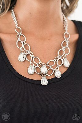 Show Stopping Shimmer  Silver Necklace Set By Paparazzi