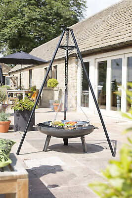 La Hacienda Tripod with adjustable hanging grill BBQ Barbecue Grill.