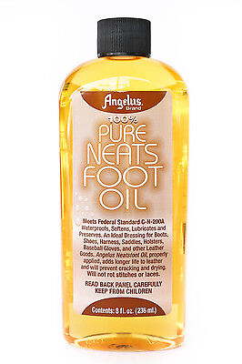 Neatsfoot Oil (Angelus Pure Neats Foot Neatsfoot Oil Liquid  Waterproof 8)