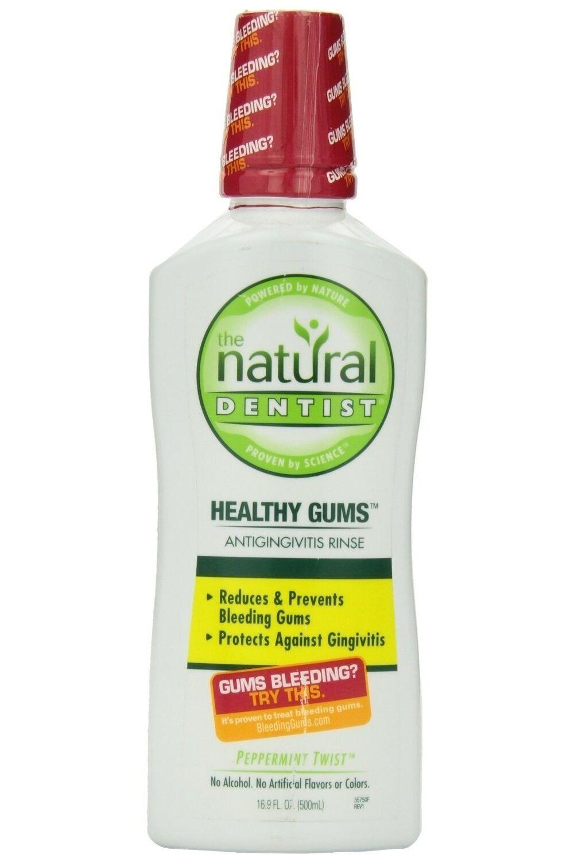 02e4eac38c9e Details about Natural Dentist Healthy Gums Peppermint Twist Antigingivitis  Rinse
