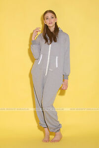 One Piece All in One Jumpsuit Onesies Women Men Cotton Mix Romper Hooded Pyjamas