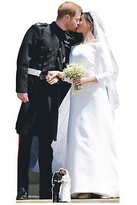 Prince Harry Y Meghan Markle Boda Real Primera Kiss Silueta de Cartón